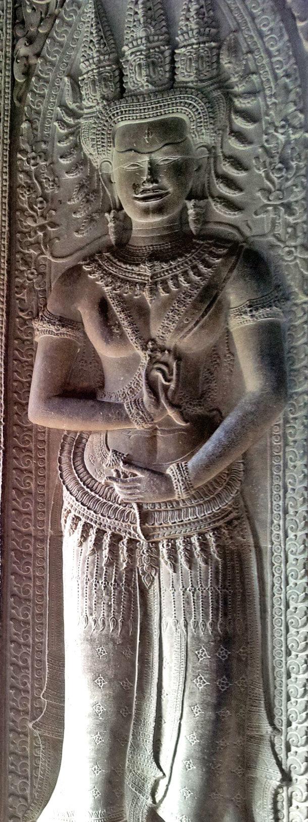 Devata at Angkor Wat
