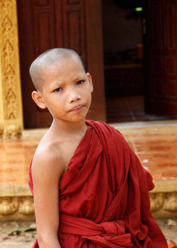 Monk, Tonle Sap - Cambodia