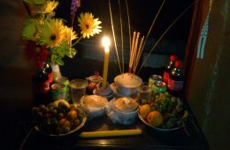 Khmer New Year offering for the angel