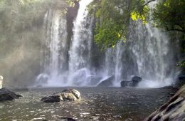 Phnom Kulen - holy mountain and waterfall in Cambodia