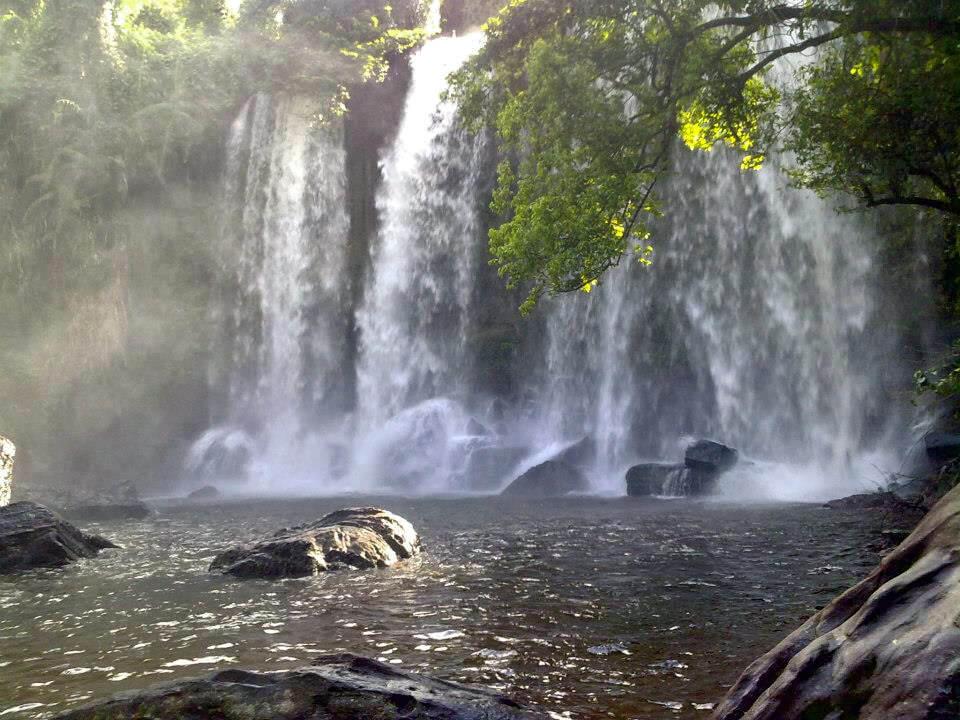 Phnom Kulen - holy mountain and waterfall in Cambodia