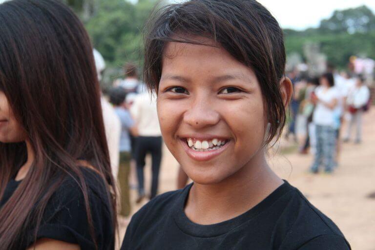 Borromey shows us the Banteay Kdei Temple at Angkor