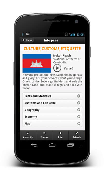 iiCamp - Khmer Web App - Information about Cambodia