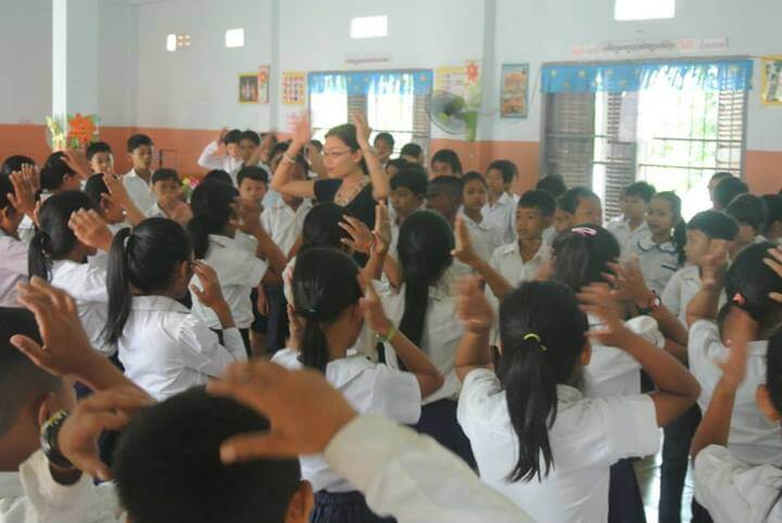 Aya Urata - she brings usic into schools in Cambodia