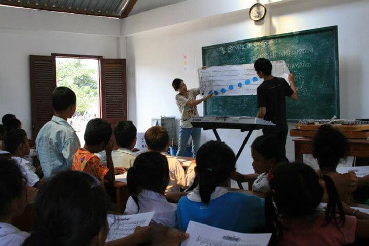 A new program for music at Cambodian schools, developed by Aya Urata