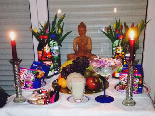 Khmer New Year celebration - offering in Germany