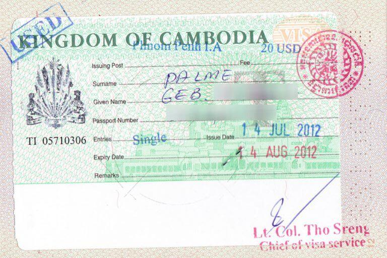 Visa Rules for Cambodia