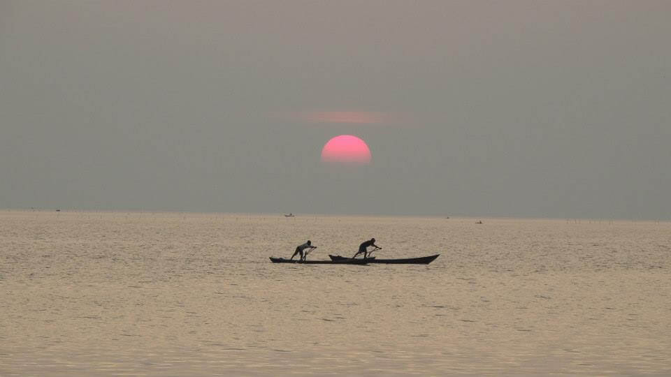 Sunset in Kampot, Cambodia