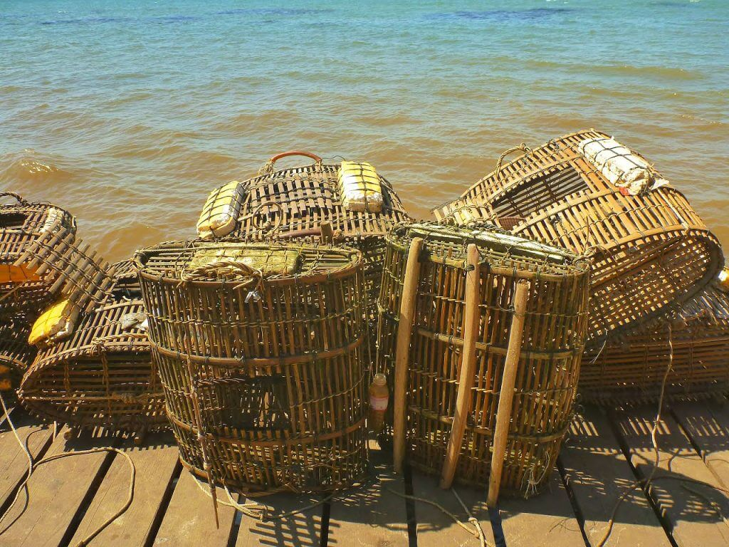 Crab pots in Kep, Cambodia   Photo: Clint Brinsom