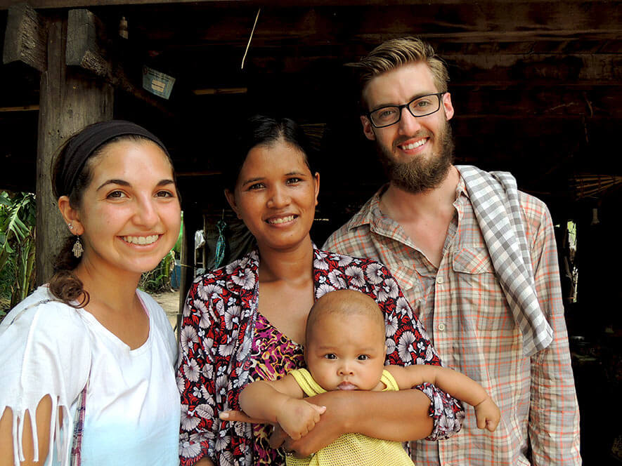 The lady (with child) who does our 'cupping'