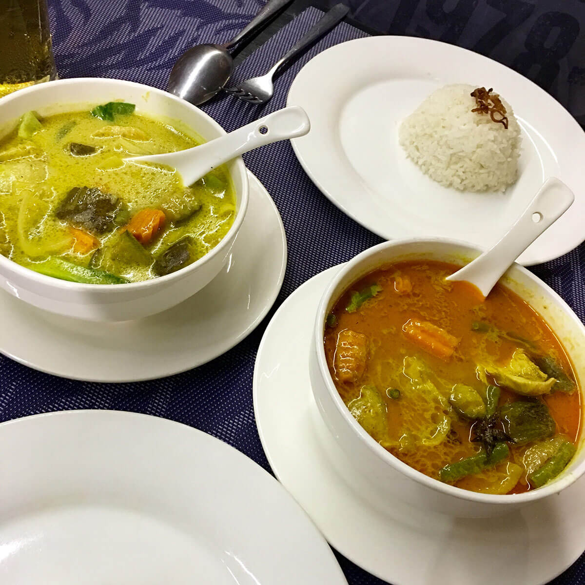 Khmer Red & Green Curry - Meng Cafe, Siem Reap