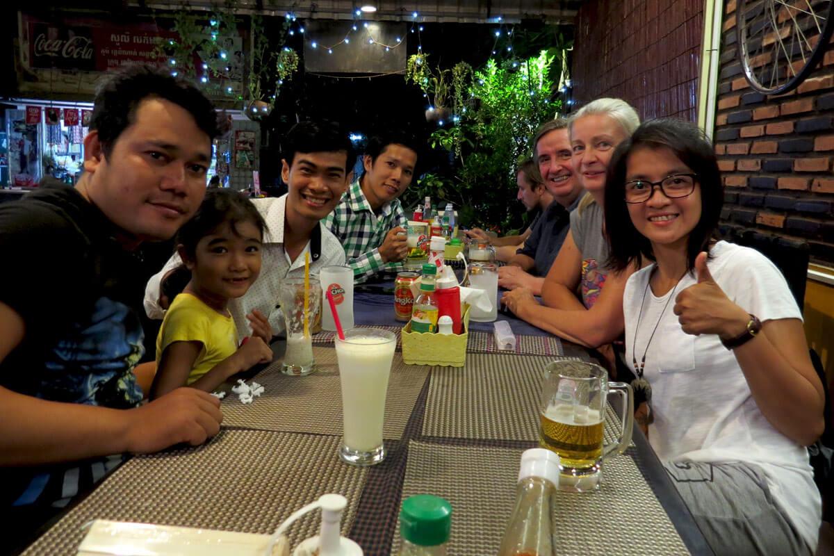 Meng Cafe, Siem Reap - Farewell Dinner
