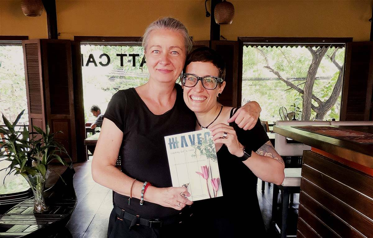 Inga & Sara with Cookbook by HAVEN restaurant