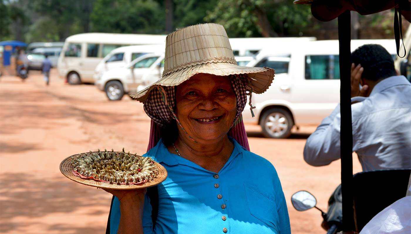 Selling woman at Angkor, Siem Reap