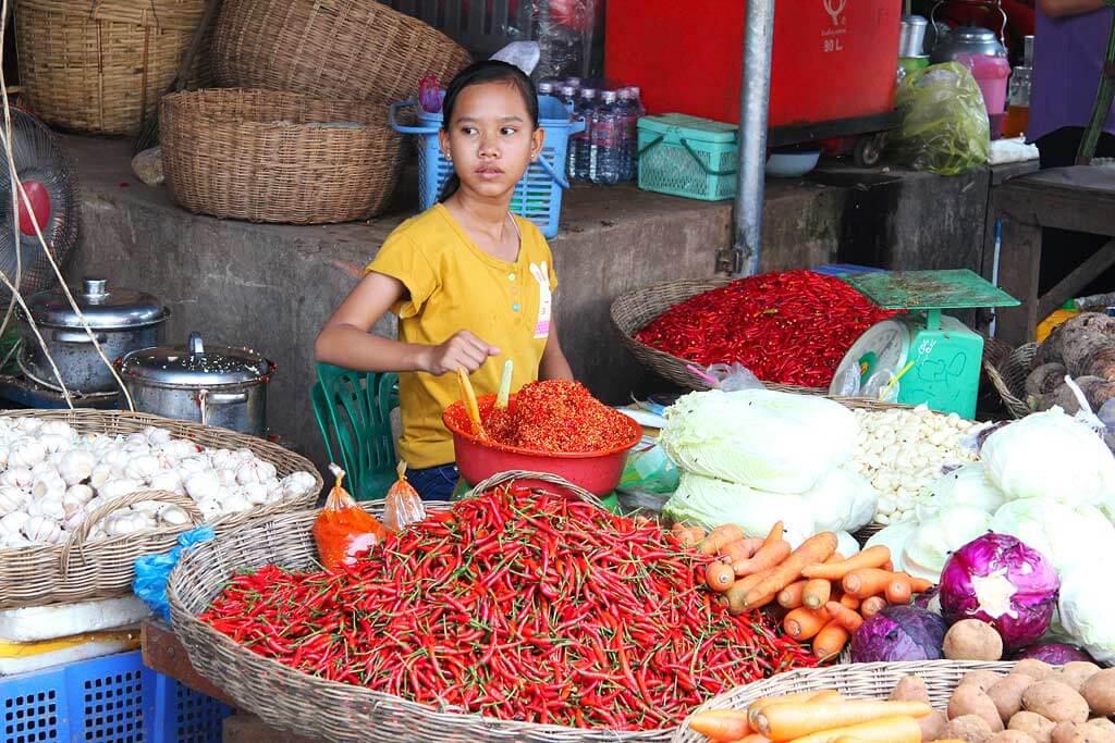 Pshar Leu Market, Siem Reap - Cambodia