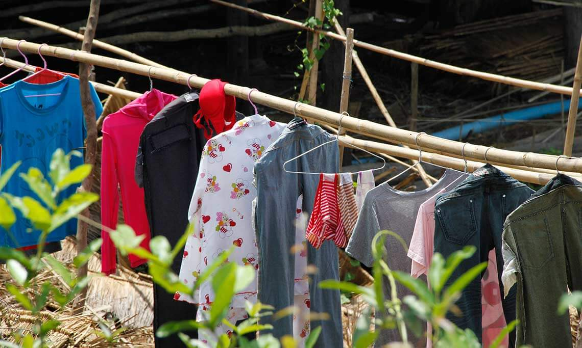 Siem Reap - clothes line