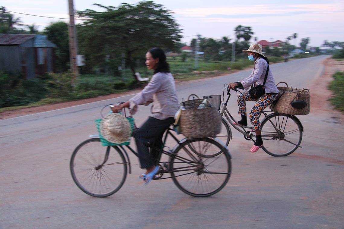 bycicle riding Siem Reap