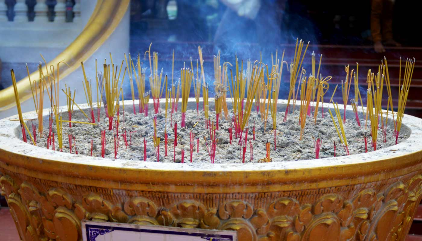 incense sticks - buddhism, Cambodia