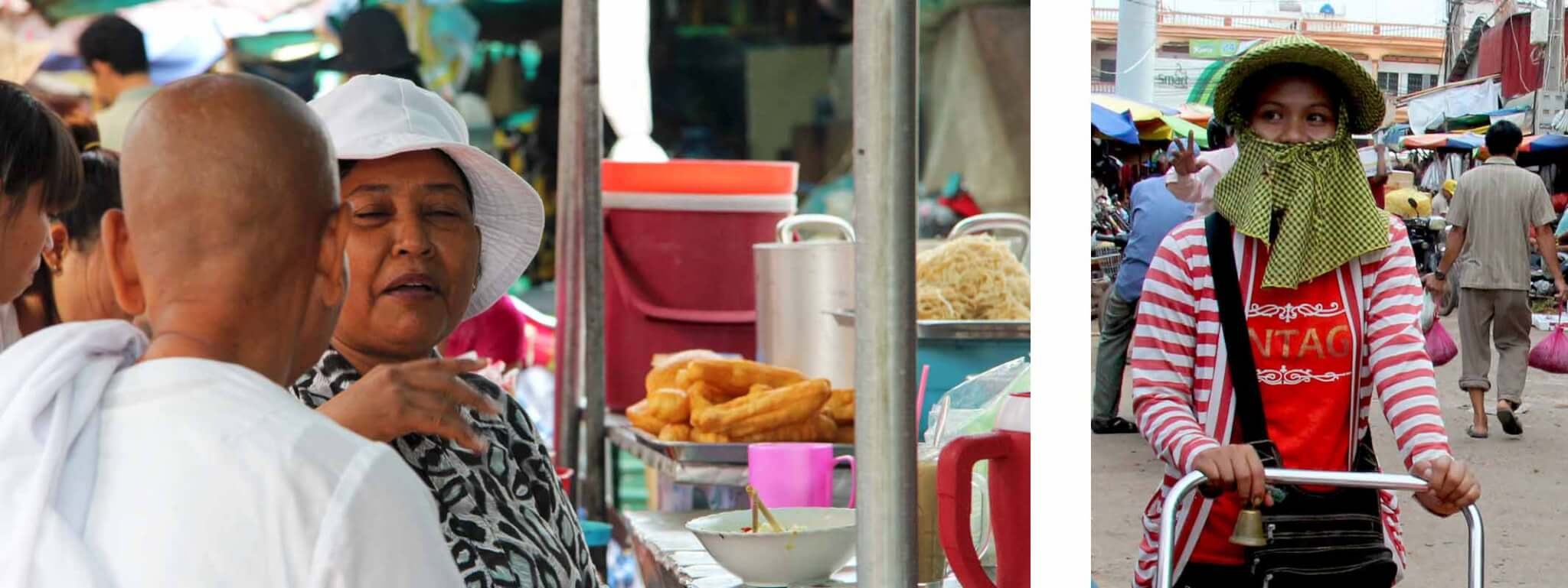 Women at Pshar Leu market in Siem Reap