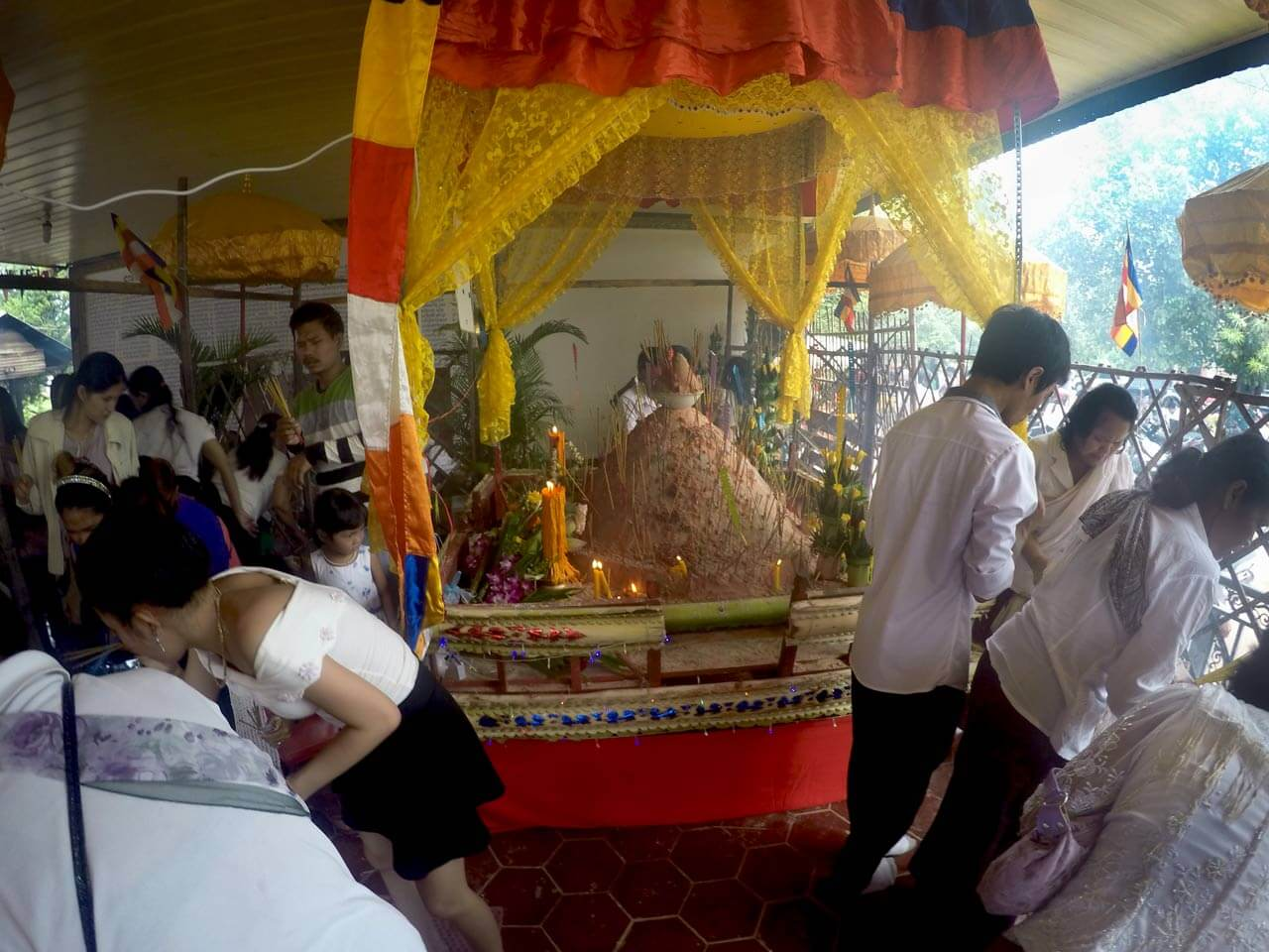 "Shrine with ""Meru"" at Pchum Ben"