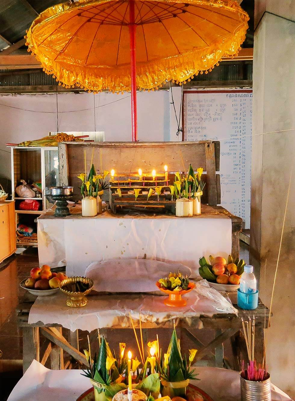 Shrine during Pchum Ben | Phnom Krom Siem Reap