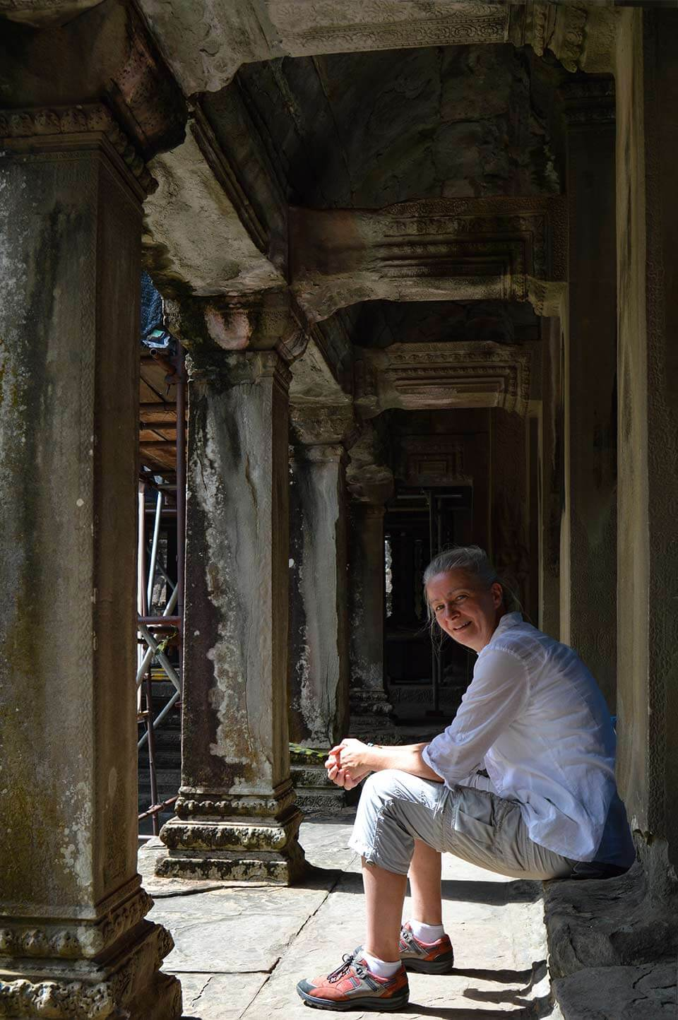 Angkor Wat - it's me, taking a rest