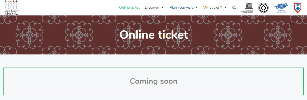 Angkor ticket online - Apsara Authority
