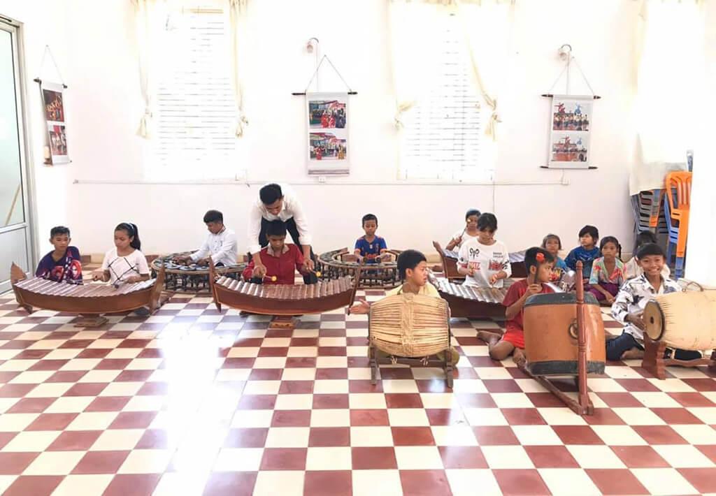 Music Class at Khmer Culture Development Institute in Kampot