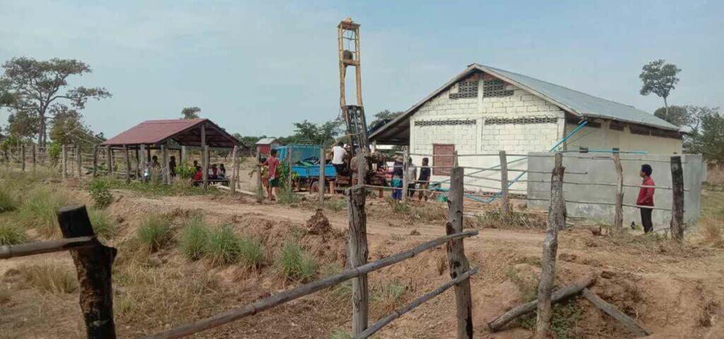 Deep well for school children near Anlong Veng